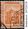 EGYPT - CIRCA 1900s: A stamp printed in Egypt shows Ras El-Tin palace, located in Alexandria, circa 1900s - stock photo