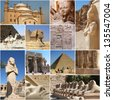 Egypt Collage - stock photo