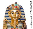 Egyptian golden pharaohs mask  - travel to Egypt concept , Egyptian Casket  - stock