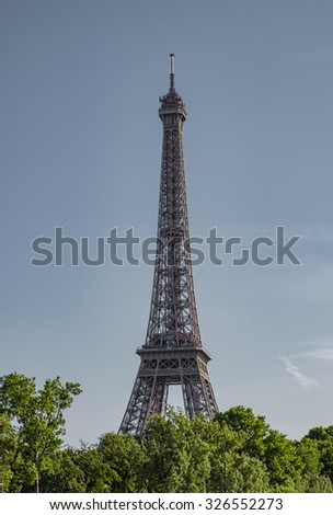 Eiffel Tower in the spring