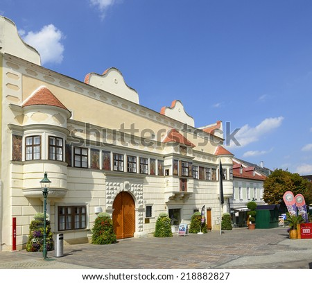 EISENSTADT, AUSTRIA - AUGUST 8:  Historic City Hall and Square on August 8, 2014. Eisenstadt is the capital city of Burgenland.