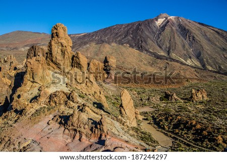 El Teide Volcano Mountain with Lava formations - Tenerife, Canary Islands, Spain