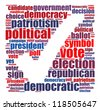 Election info-text graphics and arrangement concept (word cloud) on white background - stock vector