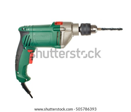 electric drill. perforator. isolated