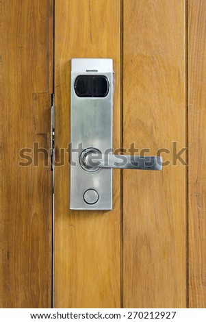 electric knob door