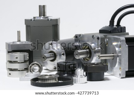 electric motors and parts for machine