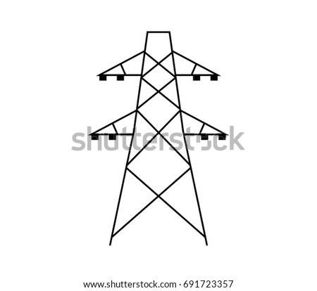 High Voltage Power Line Transmission Tower 554443378 on light tower wiring