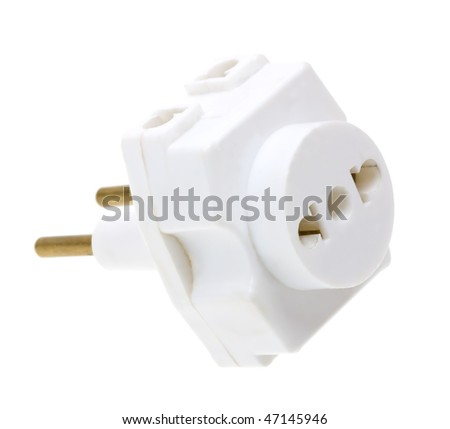 Electrical connector for household use isolated on white background