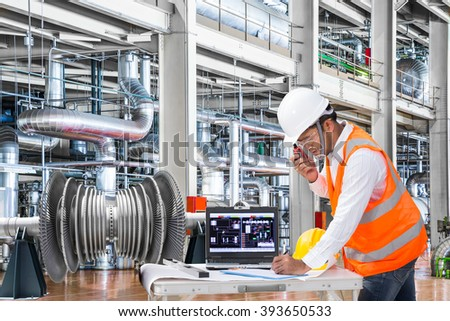 electrical engineer working at modern thermal power plant - Power Plant Engineer