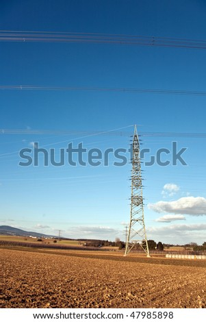 electricity tower for energy in beautiful landscape