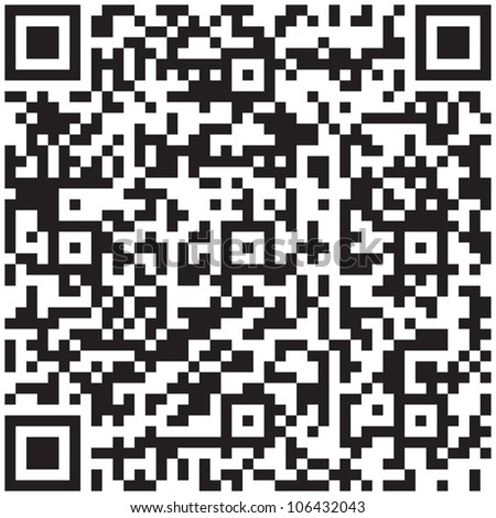 Electronic graphics code - qr barcode illustration.