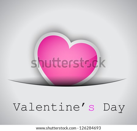 Elegant Valentine's Day background with a Shiny Heart, gold rope and a clean background. Ideal for invitaions flyer.