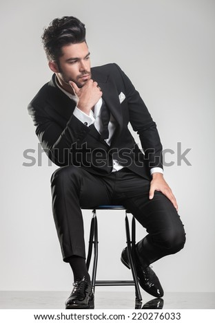 serious business man elegant double breasted stock photo 482326306