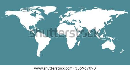 World Map Vector Stock Vector Shutterstock - Us map redrawn background