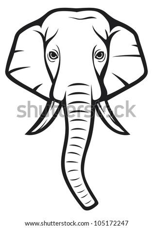 indian elephant line d...