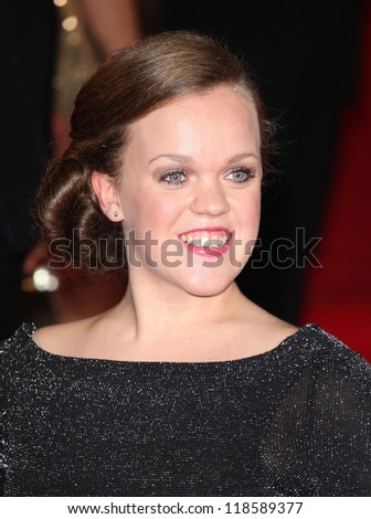 Ellie Simmonds arriving for the Royal World Premiere of 'Skyfall' at Royal Albert Hall, London. 23/10/2012 Picture by: Alexandra Glen