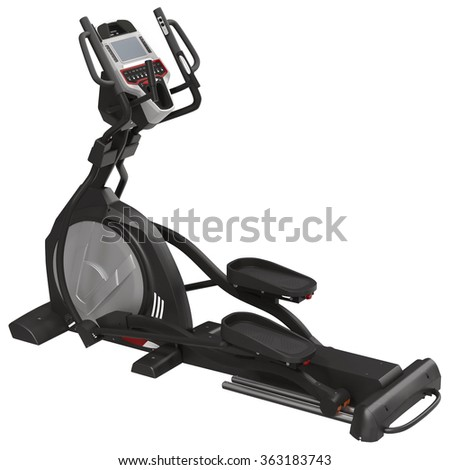 Elliptical Machine Isolated on White Background