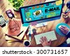 Email Correspondence Online Messaging Technology Concept - stock photo