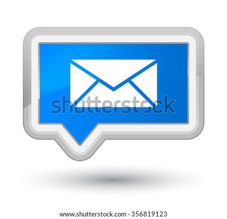 Email icon cyan blue banner button 2