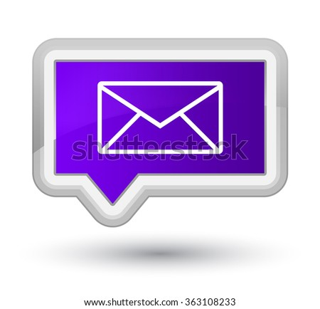 Email icon purple banner button 5