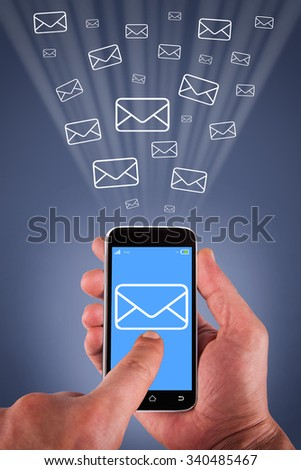 Email Sending on Smart Phone Screen