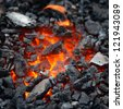 embers close-up - stock photo