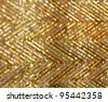 Embroidery golden background - stock photo