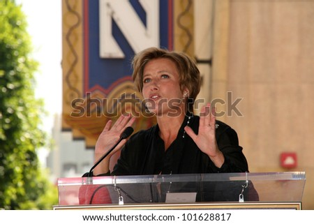 Emma Thompson at the induction ceremony for Emma Thompson into the Hollywood Walk of Fame, Hollywood, CA. 08-06-10