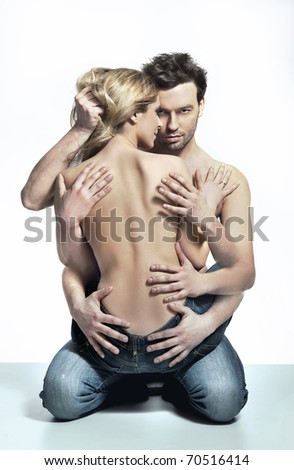 Emotive portrait of a sexy couple