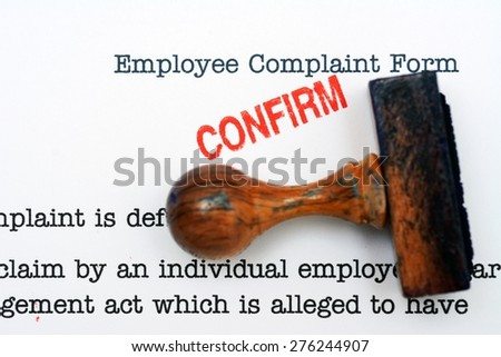 Employee Complaint Form Stock Photo 135766013 - Shutterstock