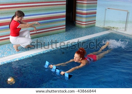 Employment pregnant woman pool stock photo 43866832 shutterstock for Can you swim in a pool while pregnant
