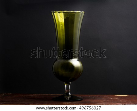 Empoli Verde Vase in Dramatic Lighting