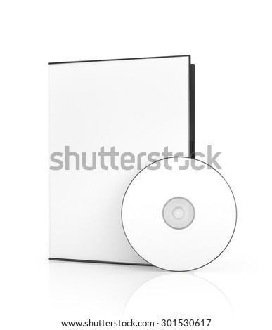Empty disk near the white box for DVD disk. Blank box for DVD disk.