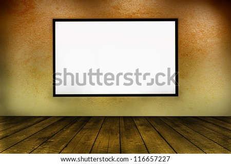 Empty frame on wall, interior design