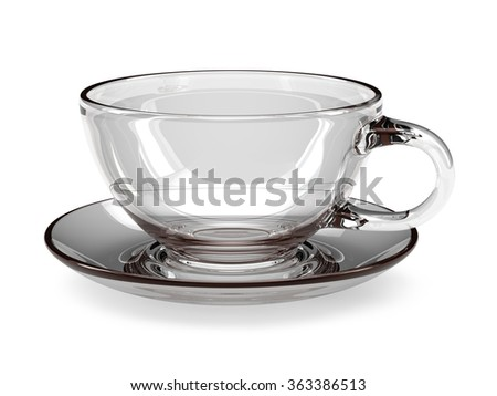 empty glass teacup