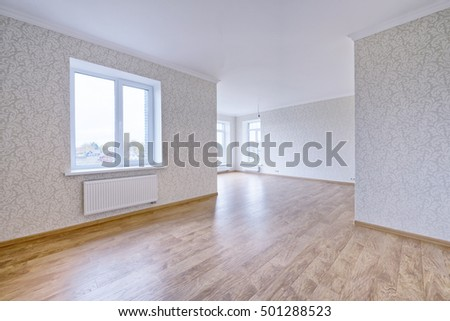 empty interior in modern house