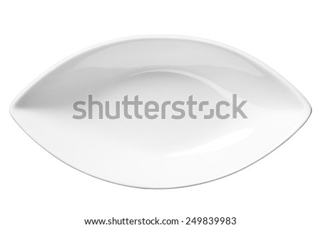 Empty plate / top-view photos of kitchen accessories - isolated on white background