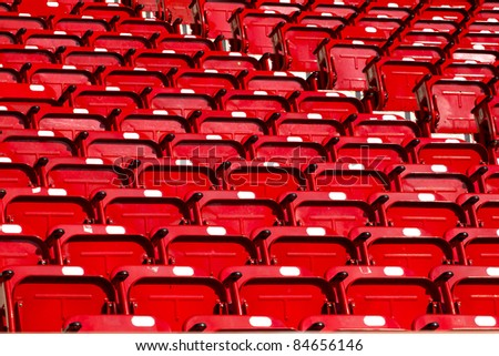 empty red stadium seats