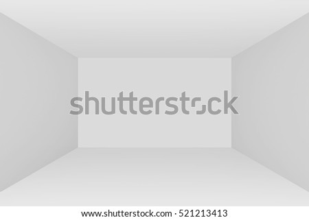 Empty room interior white background. 3d rendering illustration.