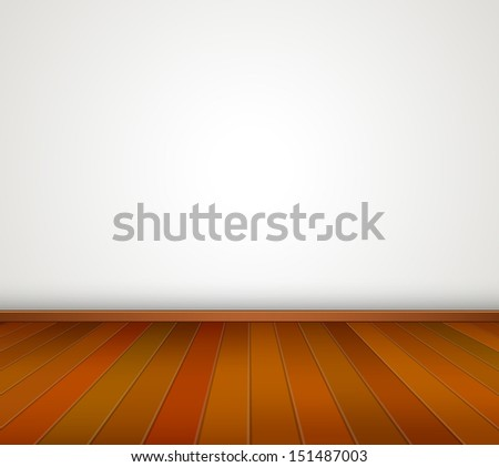 empty room with white wall and wood floor