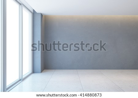 empty room with window, 3d rendering