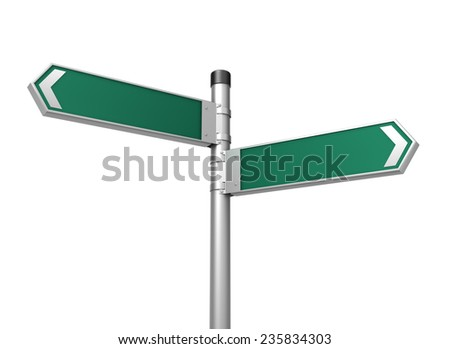 Vector Illustration Empty Road Sign Post Stock Vector ...