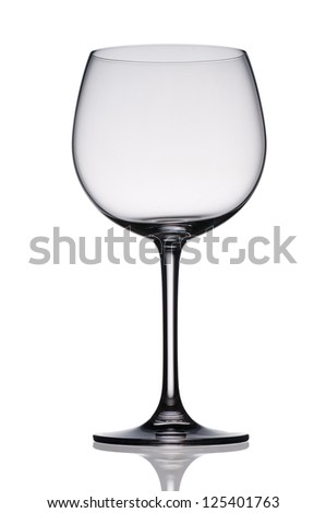 Empty wine glass. isolated on a white background