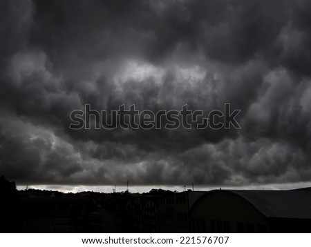 End of the world view of a scary gigantic storm.(Armageddon)