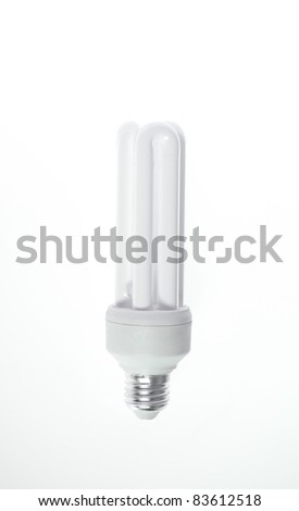 Energy saving bulb isolated on white with path