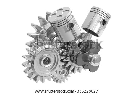 Robot Hand Gearwheels Automation Concept 3d Stock