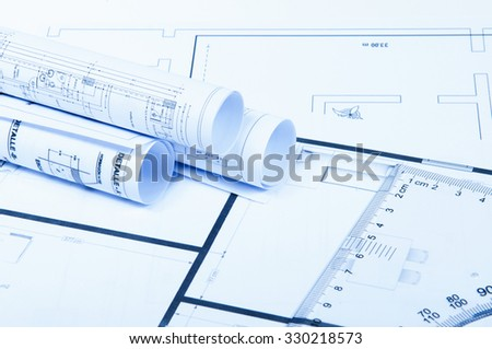 Engineering drawings with a ruler