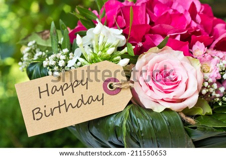 teddy bear flowers birthday cardbirthday cardteddy stock photo, Beautiful flower