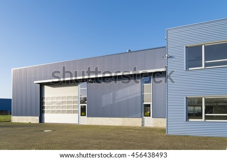 Industrial Warehouse Green Yellow Roller Doors Stock Photo 71731894 Shutterstock