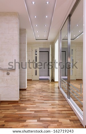 Modern Hotel Interior Corridor Stock Photo 242101018
